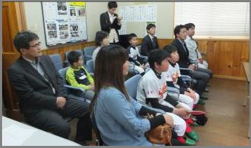 藤田建設工業㈱白河支店での贈呈式の様子